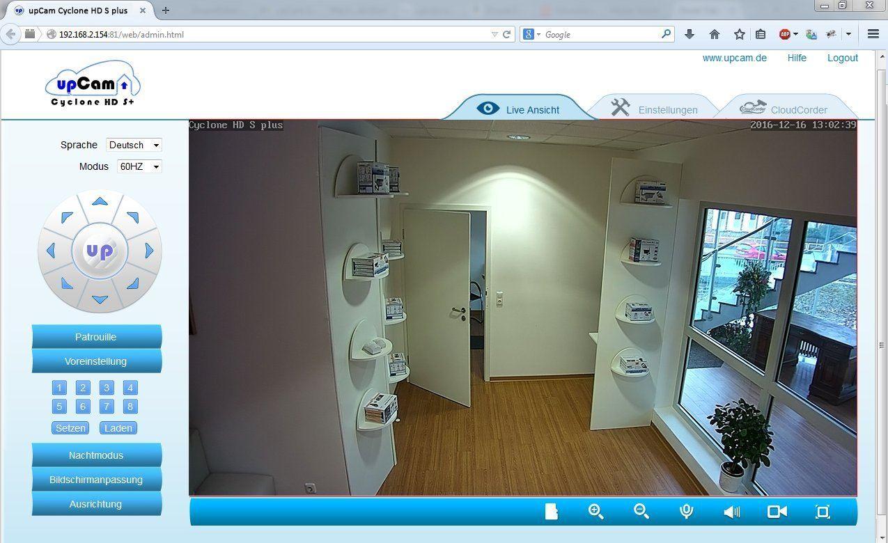 upCam Cyclone HD S+ IP Kamera mit Nachtsicht (mit SONY Exmor FULL HD Sensor 1920x1080