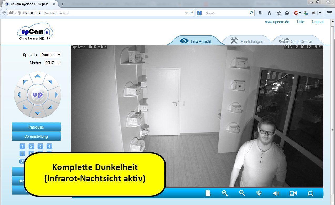 upCam Cyclone HD S+ IP Kamera mit Nachtsicht (mit SONY Exmor FULL HD Sensor