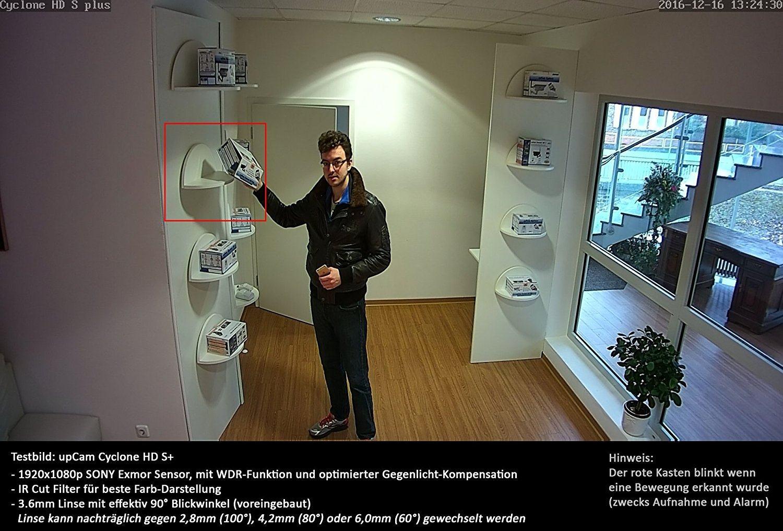 upCam Cyclone HD S+ IP Kamera mit Nachtsicht (mit SONY Exmor FULL HD