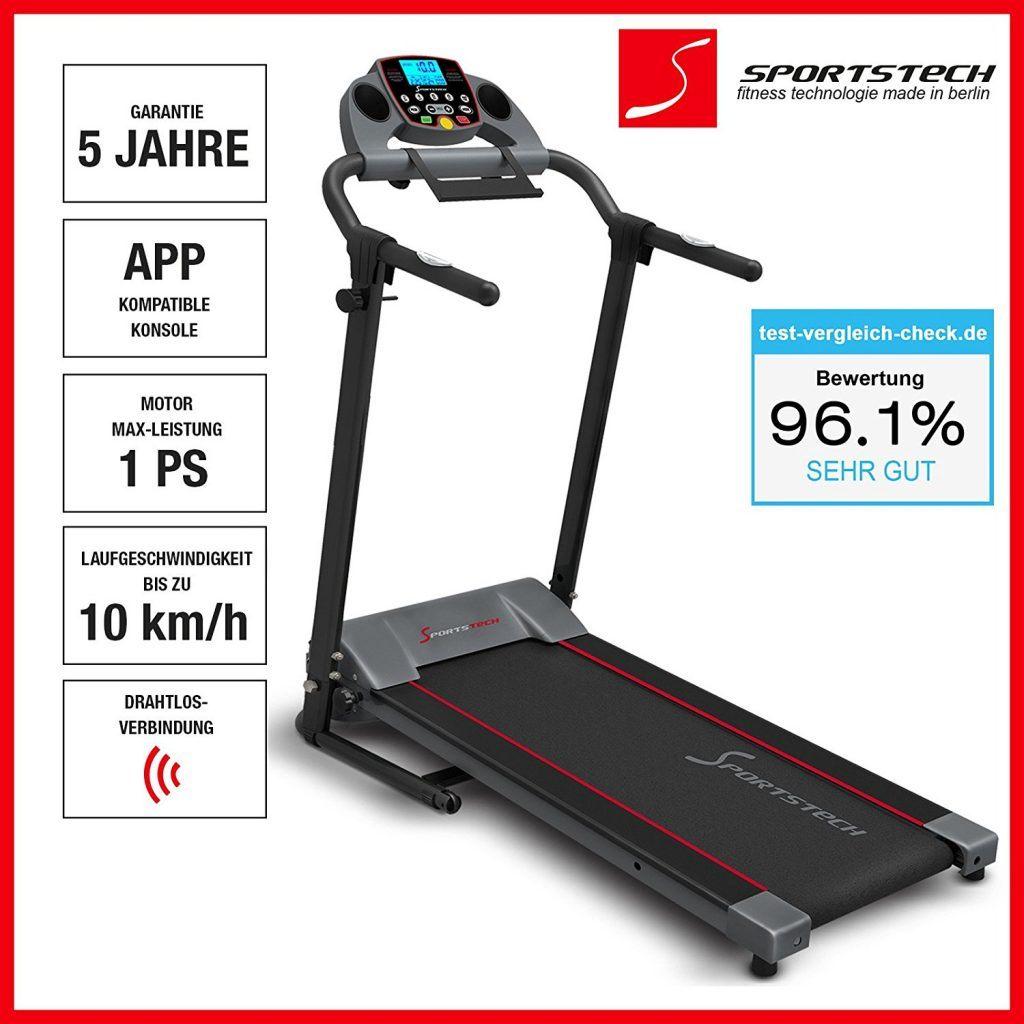 Sportstech F10 Laufband Übersicht der Leistung