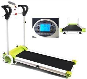 Laufband MAXOfit Deluxe grün mit Trainingscomputer