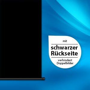 366 cm große Beamer-Leinwand Schwarz