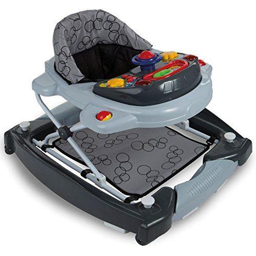 3IN1 Lauflernhilfe Babyschaukel Mit Spielcenter 12 Melodien Und Einlage GRAU