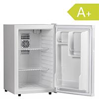 Amstyle Minikühlschrank 65 Liter Minibar Weiß freistehender Mini Kühlschrank Klein 5°-15°C Energieklasse A+ Tischkühlschrank ohne Gefrierfach für Getränke Zimmerkühlschrank 230V 65L Geräuscharm [Energieklasse A+]