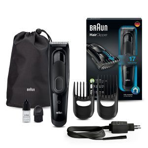 Braun Haarschneider HC5050, einsetzbar als Trimmer, 17 Längen, schwarz