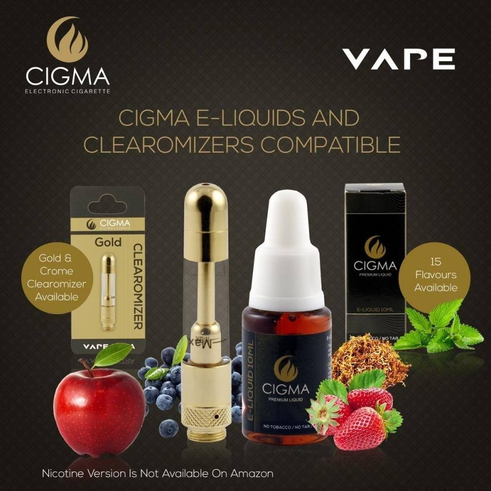 CIGMA 5 X 10ml E Liquid, 0mg (Ohne Nikotin) Klassik Tabak Aroma