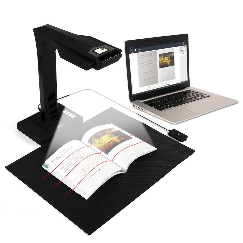 CZUR Scanner Mit Einknopf Bedienung WLAN Dokumentenscanner F%C3%BCr B%C3%BCcher Dokumente Materialien Bilder