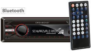 Das Creasono Autoradio Bluetooth mit Fernbedienung.