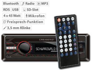 Das Creasono Autoradio Bluetooth ist einfach in der Bedienung.
