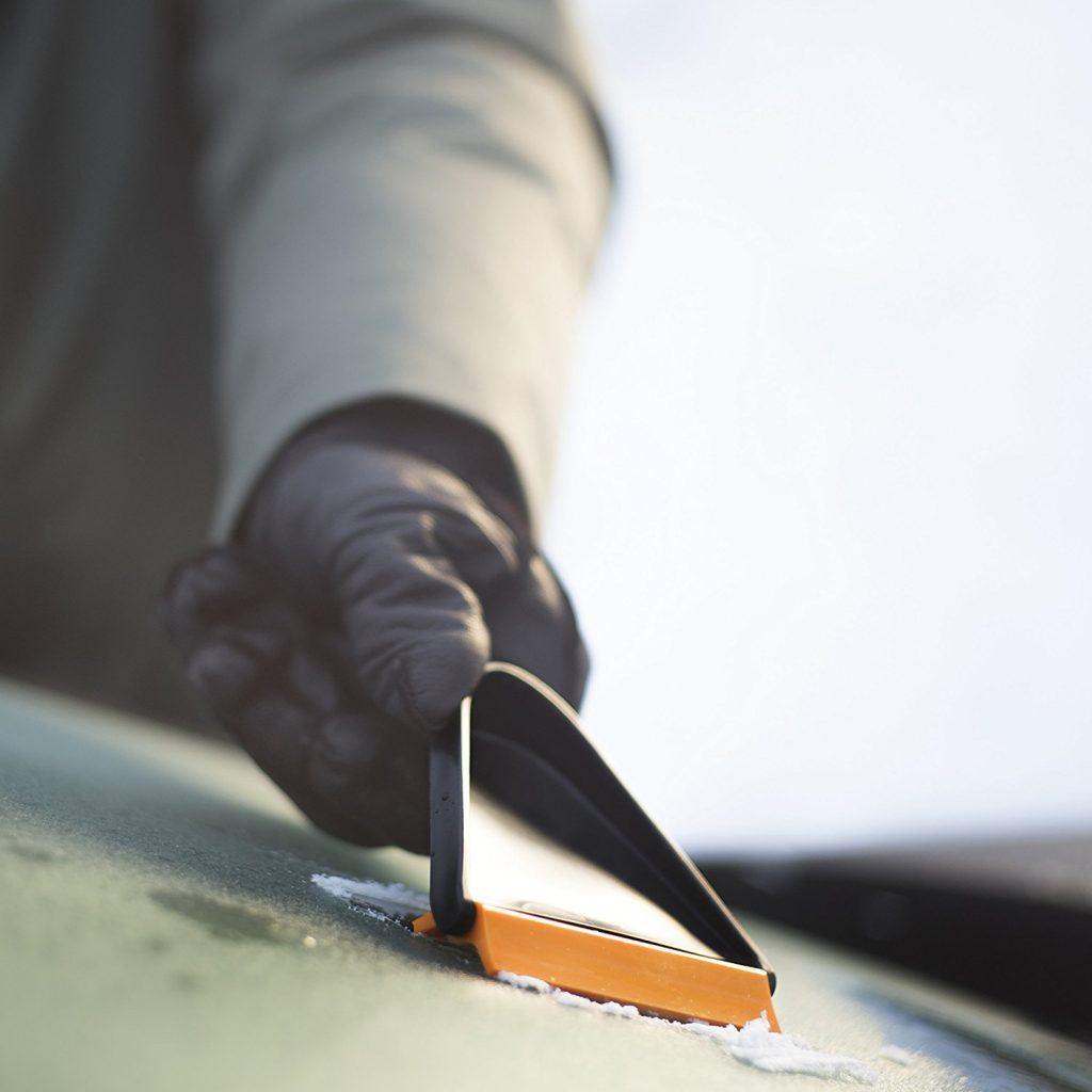 Fiskars Auto Eiskratzer Beidseitig Nutzbar L%C3%A4nge 215 Cm Kunststoff Schwarz Orange Solid 1019354