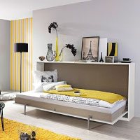 Funktionsbett-90-200-+-Lattenrahmen-weiß-Schrankbett-Klappbett-Raumsparbett-Kinderbett-Jugendliege-Bettliege-Gästebett-Gästezimmer