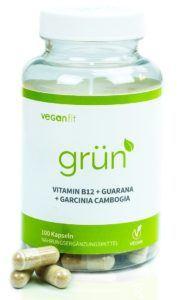 GRÜN - 100% natürliches Fatburner Supplement mit ausgewähltem Superfood. Guarana, Grüntee-Extrakt, Vitamin B12, Garcinia Cambogia - 100 vegane Kapseln zur Unterstützung deiner Diät