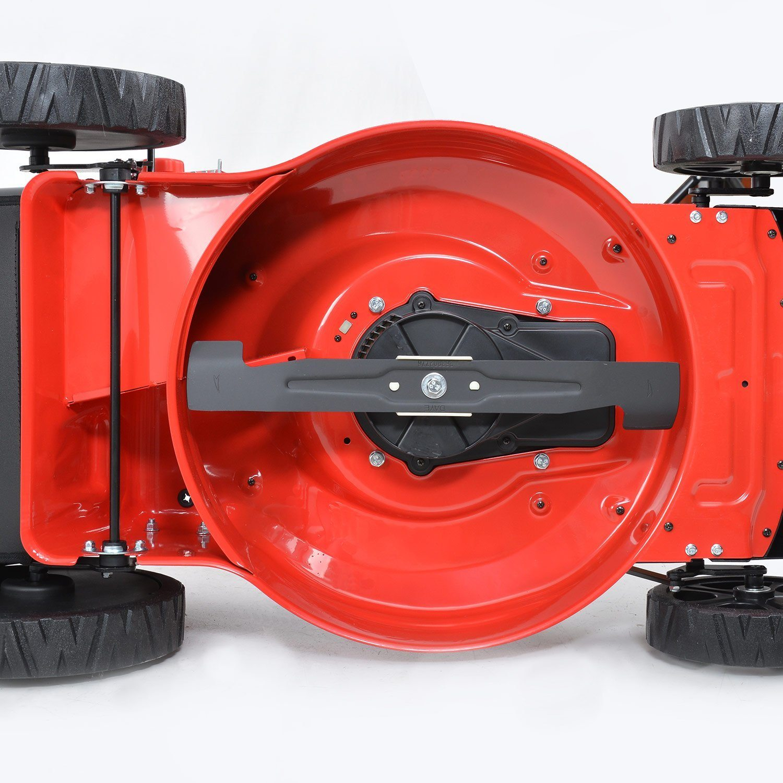 HECHT Elektro-Rasenmäher 1845 Elektro-Mäher (1800 Watt, 46 cm Schnittbreite, 7-fache Schnitthöhenverstellung 30-75 mm, 60 L Fangsack) Messer
