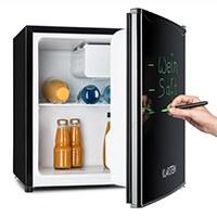 Klarstein • Spitzbergen Aca • Minibar • Mini-Kühlschrank • Getränkekühlschrank • A+ • 40 Liter • 47 x 48 x 44 cm (BxHxT) • beschreibbare Kühlschranktür • Regaleinschub • Türflaschenablage • kleines Gefrierfach mit Tropfschale • regelbare Temperatur • schwarz [Energieklasse A+]