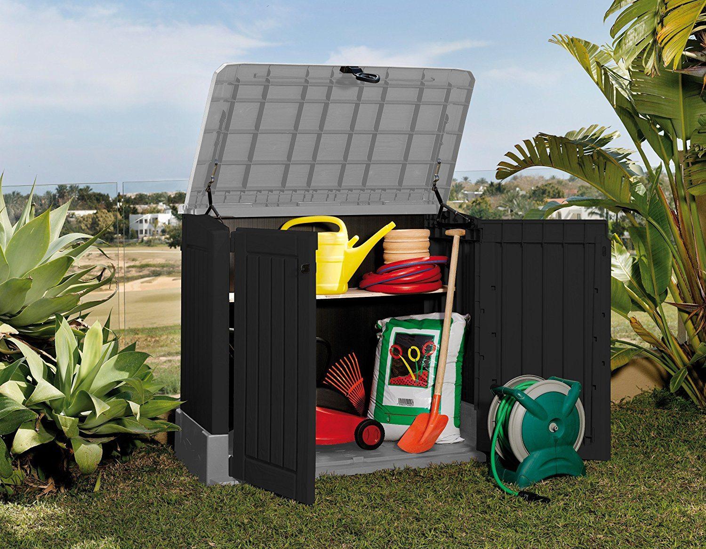 Mülltonnenbox von Keter Store it Out Midi, Schwarz, 845L Garten