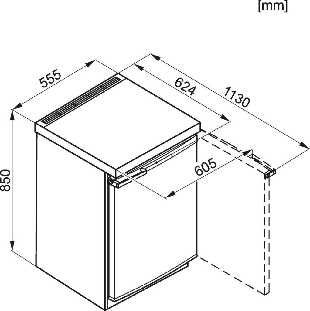Miele F 12016 S 2 Mini Gefrierschrank.