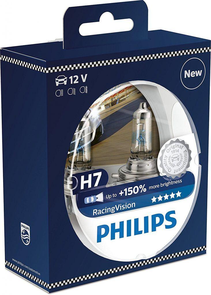 Philips 12972RVS2 RacingVision 150 H7 Scheinwerferlampe Doppelset