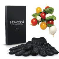 Premium Ofenhandschuhe (2er Set) bis zu 500 °C - Extra lange Topfhandschuhe für extreme Sicherheit