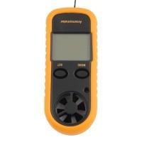 Sienoc Digitaler Windmesser mit Thermometer - Anemometer - Handwindmesser