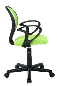 Der SixBros. Bürostuhl Drehstuhl Schreibtischstuhl Grün ist um 360° drehbar.