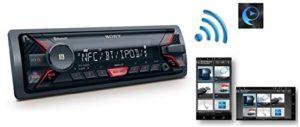 Der Sony DSX-A400BT Mechaless Autoradio hat Bluetooth.