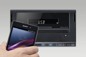 Der Sony XSP-N1BT 2DIN Autoradio mit Smartphone-Halterung hat einen satten Sound.