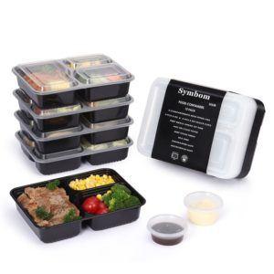Symbom Essensbehälter 1000ml mit 3 Unterteilungen