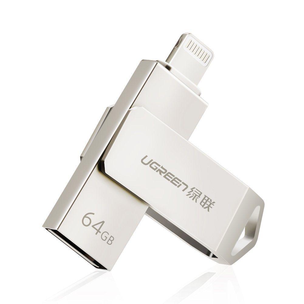 UGREEN Flash Laufwerk 64G USB Stick Mit Zertifiziert MFI Lightning Stecker Und USB 2.0 Stecker F%C3%BCr IPhone IPad Und Laptop.