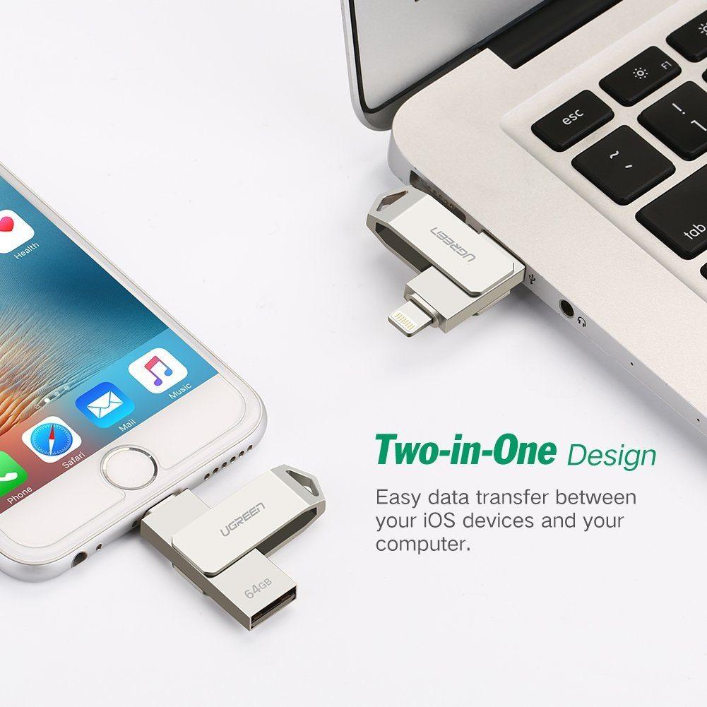 UGREEN Flash Laufwerk 64G USB Stick Mit Zertifiziert MFI Lightning Stecker Und USB 2.0 Stecker F%C3%BCr IPhone IPad Und Laptop
