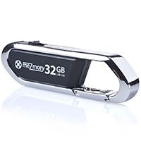 USB-Stick 32GB 2.0 Clip Karabiner