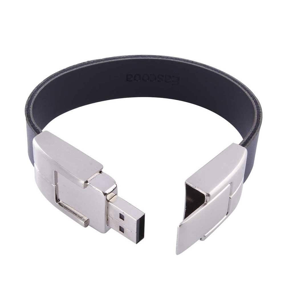 USB Stick Leder Armband Schwarz 16GB