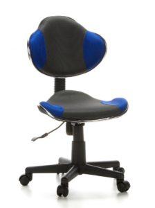 Der hjh OFFICE 633000 Kinderdrehstuhl Bürostuhl KIDDY GTI-2 sorgt für einen ergonomischen Sitz.