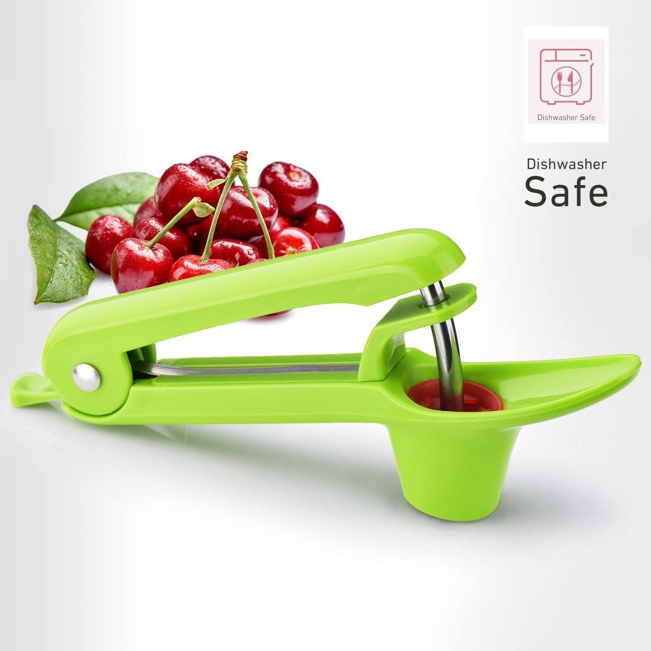 iKich Kirschentkerner, Kirschtorte oder Stein-Sticks, Cherry Pitter Seed Remover Kirschkern oder Samen-Entferner