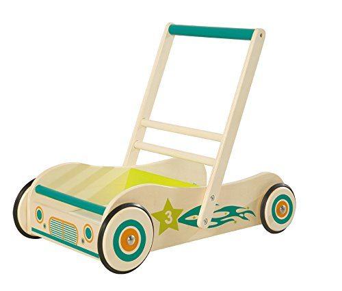 Roba Lauflernwagen Spiel Und Lauflernhilfe Aus Holz Mit Bremse