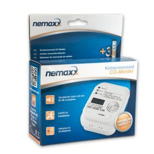 1x Nemaxx Co Melder - intelligenter Kohlenmonoxid Sensor