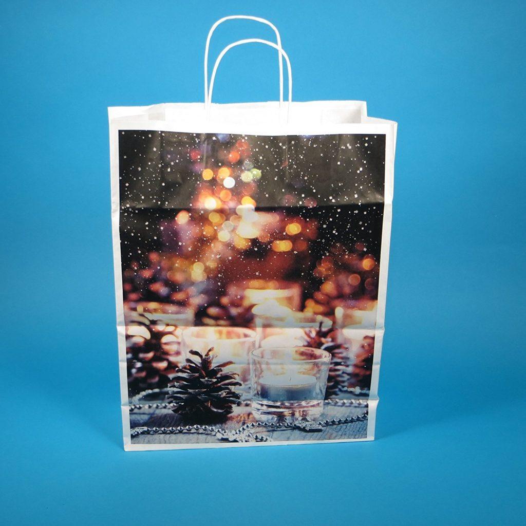 250 Papiertragetaschen Weihnachtstragetaschen Papiert%C3%BCten