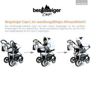 Der Kombikinderwagen Capri von Bergsteiger Darstellung der Faltmöglichkeiten