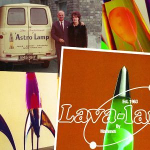 Mathmos Telstar Lavalampe Rakete – Gelb/Rot