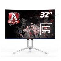 AOC AGON AG322QCX 80 cm (31,5 Zoll QHD) Curved Gaming Monitor (DVI, HDMI, DisplayPort, USB 3.0, 2560x1440, 144 Hz, 4ms) schwarz/silber