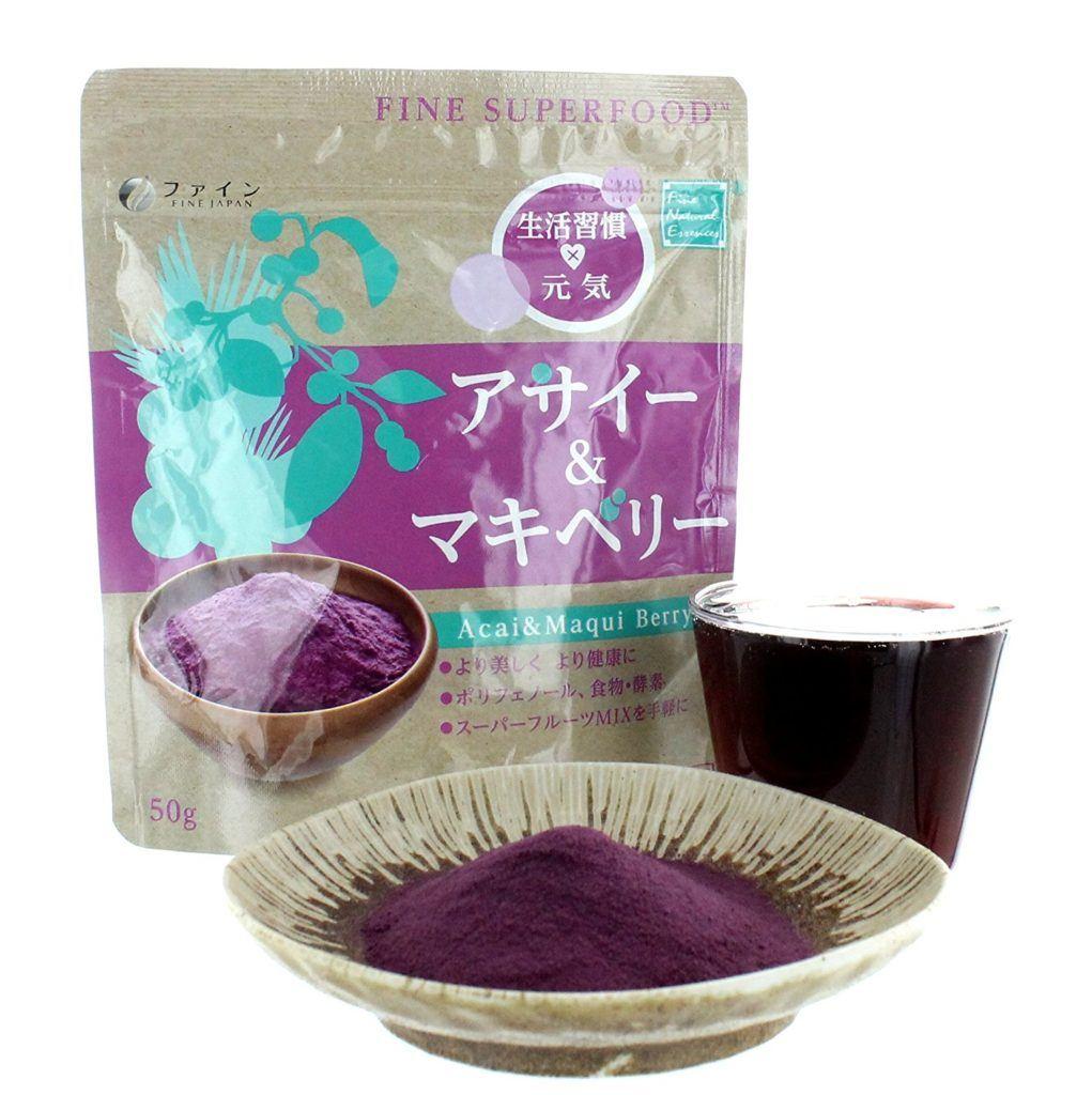 Acai Berry Und Maqui Berry Pulver Smoothie FINE SUPERFOOD Made In Japan