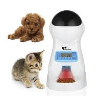 Amzdeal Futterautomat Katze, Automatischer Futterspender für Katze und Hund