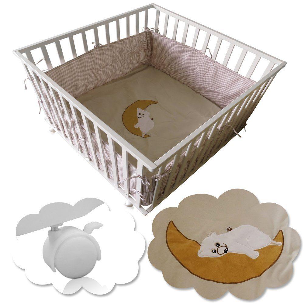 Baby Laufgitter Kinder Krabbelgitter Laufstall H%C3%B6henverstellbar 100x100 Cm Einlage