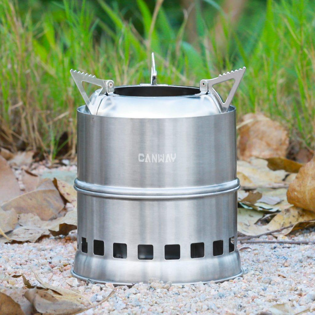 Camping Kocher Canway Campingkocher Holzvergaser Kocher Outdoor Ofen Holzofen Camping Aus Edelstahl F%C3%BCr Picknick Wandern Camping