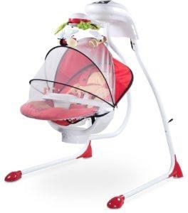 Die Caretero Bugies Babywippe verfügt über praktisches Zubehör.