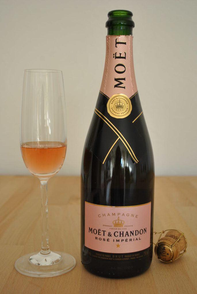 Champagner Moet Rose 2