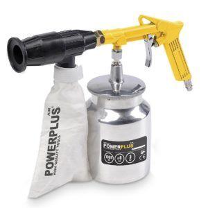 Druckluft Luftdruck-Schallabstrahlend, 2 kg Sand inklusive, Gerät mit Behälter