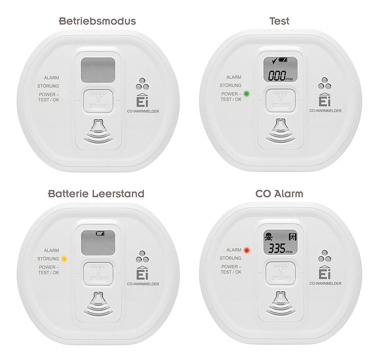 Ei Electronics Ei208D 10-Jahres-Kohlenmonoxidwarnmelder
