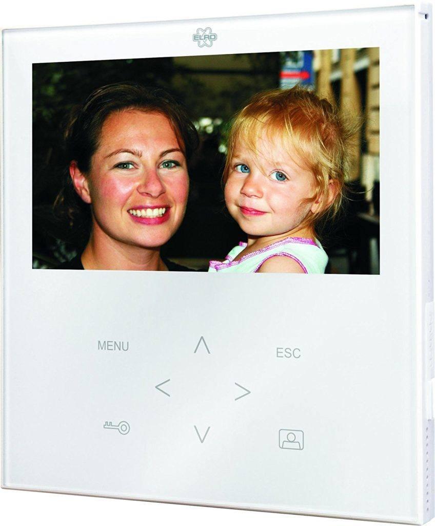 Elro VD71W Video T%C3%BCrsprechanlage Mit Flachem Touchscreen Panel Wei%C3%9F..