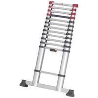 Hailo 7113-131 FlexLine Aluminium Sicherheits-Teleskopleiter (9-13 Sprossen)
