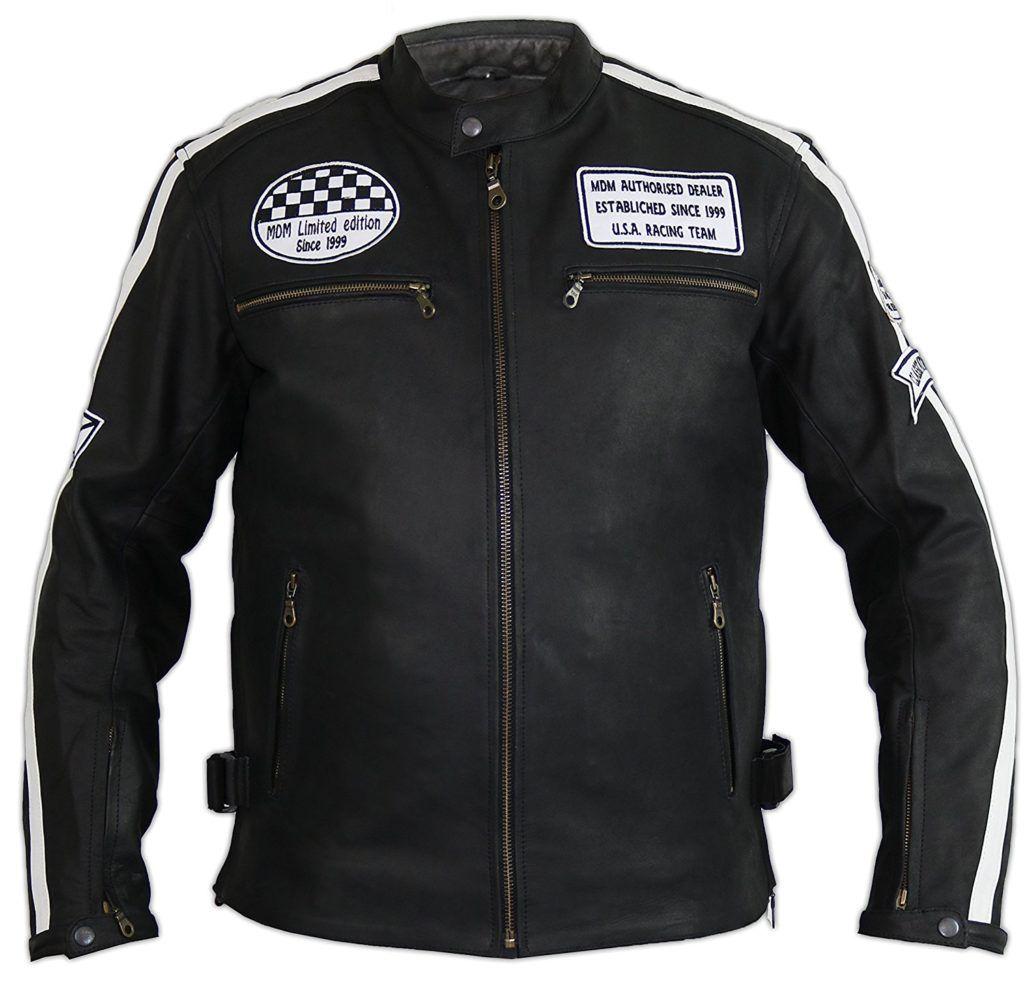 Herren Motorrad Lederjacke XL